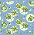 pattern with green stylized flowers and vector image vector image