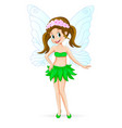 pretty cute fairy vector image vector image