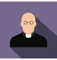 Priest flat icon vector image