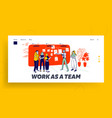 project management at scrum task board website vector image
