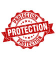protection stamp sign seal vector image vector image