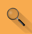 realistic magnifying glass icon vector image