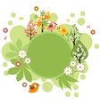 round frame with birds and flowers vector image vector image