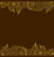 seamless decorative border of gold floral elements vector image vector image