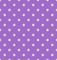 Seamless polka dot violet pattern with circles vector image vector image