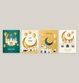 set card design for eid al adha vector image