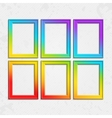 Set of frames rainbow vector image vector image