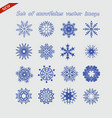 set of snowflakes image blue isolated icon vector image vector image