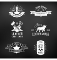 Set of vintage craft logo designs retro genuine vector image vector image