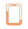 silhouette nice smartphone symbol icon design vector image vector image