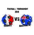 soccer game france vs australia vector image
