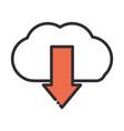 social media cloud computing download data digital vector image