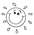 Sun cartoon vector image vector image