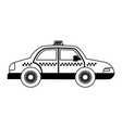 taxi car vehicle vector image vector image