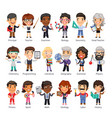 teachers flat cartoon characters vector image vector image