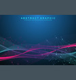technology abstract background with connected line vector image vector image