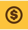 The dollar icon Cash and money wealth payment vector image