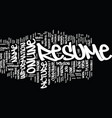 the power of an online resume text background vector image vector image