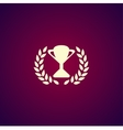 Trophy and awards icon Flat design style