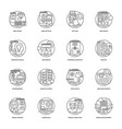 web development line icons 4 vector image vector image