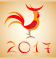 year of a rooster vector image vector image