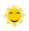 yellow smiling sun - cartoon vector image