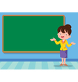 teacher and backboard vector image