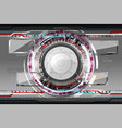 abstract futuristic eyeball vector image