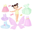 Baby Girl with Different Fairy Ballet and Princes vector image vector image