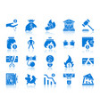 bankruptcy color silhouette icons set vector image vector image