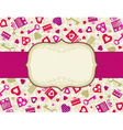 beige valentines background with hearts and gifts vector image vector image