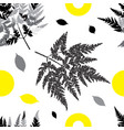 botanical seamless pattern with plant elements on vector image vector image