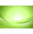 Bright green shiny waves vector image vector image