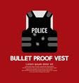 Bullet Proof Vest vector image vector image