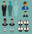 Business infographic with icons persons charts and vector image vector image