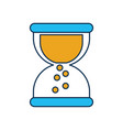 business sand clock time plan work vector image vector image