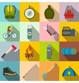 Camping flat icons vector image vector image