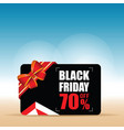 card of black friday color vector image vector image