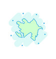 cartoon azerbaijan map icon in comic style vector image