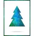 christmas tree card design perfect vector image vector image