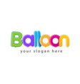 colorful balloon logo vector image vector image