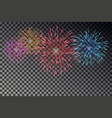 colorful fireworks on sky firecracker isol vector image vector image