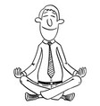 comic cartoon man or businessman sitting in vector image