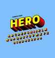 comics style font design alphabet letters vector image vector image