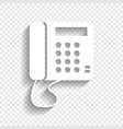 communication or phone sign white icon vector image vector image