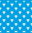 cow head pattern seamless blue vector image
