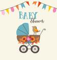 cute baby shower invitation or birthday card