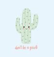 cute cartoon cactus vector image vector image