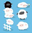 cute cartoon sheeps characters set vector image vector image