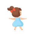 cute little girl in light blue dress view from vector image vector image